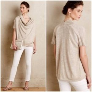 Tops - KNITTED & KNOTTED | Anthro Cream Cowl Neck Blouse